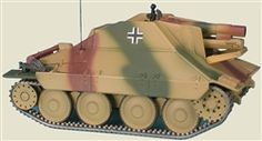 Master Fighter MF48574 German Hetzer sIG33 Sturmpanzer Assault Gun - Germany, March 1945 (1:48 Scale)