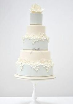 An epic tier on tier #wedding cake.