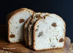 Pan semi integral de espelta con higos y nueces en panificadora