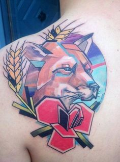 nice Geometric Tattoo - 150 Inspiring Wolf Tattoo Designs And Their Meanings nice Check more at fabulou. Abstract Tattoo Designs, Tattoo Designs Men, Sleeve Tattoos For Women, Tattoos For Guys, Wolf Tattoos Men, Tattoo Wolf, Fox Tattoos, Animal Tattoos, Tattos