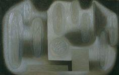 Serge Charchoune, Composition, 1951. Huile sur toile, 65x100cm.