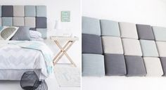 square pillows homemade bed decoration headboard design