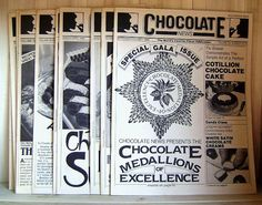 Vintage Recipes Chocolate News 43 Issues Plus by CrookedHouseBooks