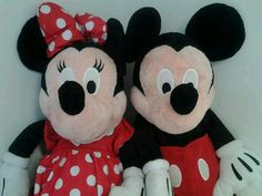 "Jumbo Mickey & Minnie Mouse Plush Disney 40"" Stuffed Animal Set Pair #Disney"