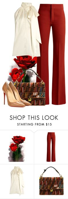 """Untitled #1604"" by dishalovesthat ❤ liked on Polyvore featuring Chloé, Yves Saint Laurent, Fendi and Christian Louboutin"