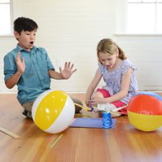 Build a bridge between two beach balls using household items. Creative Thinking Skills, Critical Thinking, Discovery Museum, Stem Skills, Stem For Kids, Group Activities, Household Items, Bay Area, Problem Solving