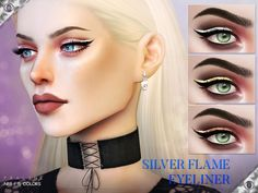 Metallic eyeliner in 15 colors  Found in TSR Category 'Sims 4 Female Eyeliner'