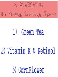 3 Natural Products for Younger Looking Eyes