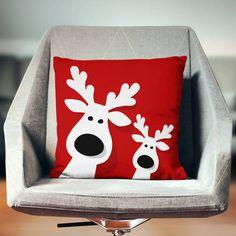 Christmas Pillows Holiday Pillows Christmas by wfrancisdesign Decorations Christmas, Blue Christmas Decor, Reindeer Decorations, Noel Christmas, Festival Decorations, Christmas Crafts, Holiday Decor, Etsy Christmas, Christmas Cushions
