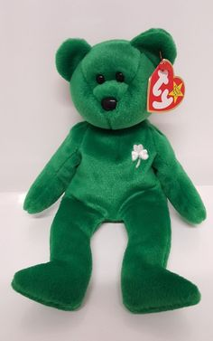 754d96434d0 Details about Erin Lucky Clover Bear Green March 17 1997 Emerald Isle Retired  Ty Beanie Baby