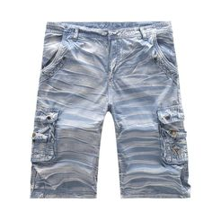73f664ebed HEE GRAND Hot Sale Men's Shorts Casual Camouflage Washing Multi-Pocket Short  European Size Black Blue Color High Quality MKD825