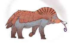 A beast of burden native to the Bex homeworld, used for meat, labor, hides and especially for the thick armor plating that covers its dorsal region.