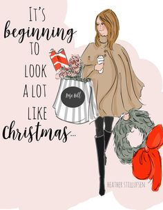 Dinsdag 6 december 2016 * RoseHillDesigns by Heather Stillufsen Christmas Art, Winter Christmas, Xmas, Preppy Christmas, Christmas Messages, Christmas Clipart, Christmas 2017, Christmas Humor, Rose Hill Designs