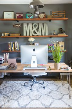 DIY Handmade Butcher Block Desk for my Home Office | Modish and Main #creativehomeofficeideas