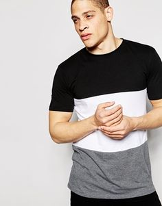 Antioch Longline T-Shirt With Panelling