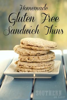 Homemade Gluten Free Sandwich Thins - Flaxseed Sunflower Seed | http://www.southerninlaw.com | #glutenfree