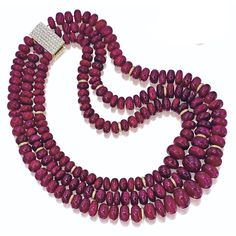 Ruby bead and diamond necklace   lot   Sotheby's