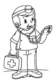 """""""Doctor"""" to color Preschool Coloring Pages, Coloring Pages For Boys, Colouring Pages, Coloring Sheets, Coloring Books, Community Workers, Community Helpers, Art Drawings For Kids, Art For Kids"""