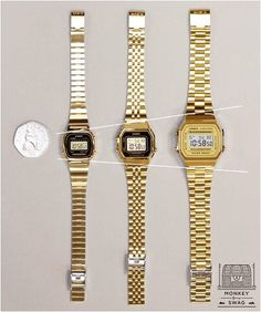 d315aeaee23 On the left Casio Classic LA670W Black Face   Gold Band RM50 On the right  Casio