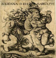 Daniel Hopfer (1470 - 1536).Гравюры. Daniel Hopfer был современником величайших художников в истории Германии - Лукаса Кранаха, Ганса Гольбейна и Альбрехта Дюрера. Three old women beating a Devil…