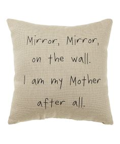 White 'Mirror Mirror' Pillow | Daily deals for moms, babies and kids