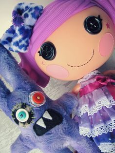 Lalaloopsy dolls. I would have loved these when I was a kid! May start collecting them for my potential future offspring.