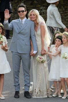 The Prettiest Model Weddings of All Time - Kate Moss-Wmag