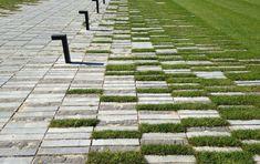 Paving Design, Path Design, Garden Design, Brick Paving, Brick Path, Porous Pavement, Pavement Design, Paving Pattern, Modern House Facades