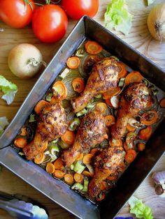 Lekcje w kuchni: Kurczak w pomidorowej marynacie / Tomato marinated chicken