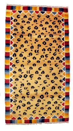Leapord Skin Design Handmade Wool Rug