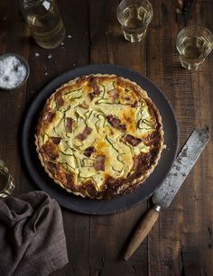Bacon and zucchini quiche on DrizzleandDip.com - Photography Samantha Linsell #recipes