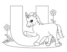 Animal Alphabet Letter U is for Unicorn!