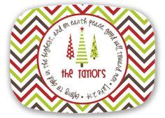 Personalized Melamine Christmas Platter  by DarrahDesigns on Etsy, $38.50