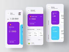 Personal Financial Assistant by Ron Design Agency Mobile Ui Design, App Ui Design, To Do App, Card Ui, Taxi App, Ui Design Inspiration, Daily Inspiration, Ui Web, Branding