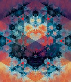 harmonious colors, hexagons, pattern, feels organic, like a snowflake or a fractal / Andy Gilmore