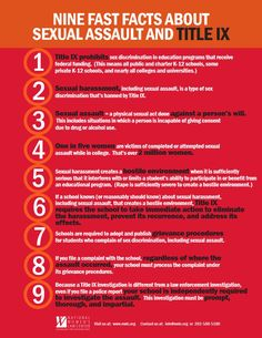 Nine facts about sexual assault and title IX