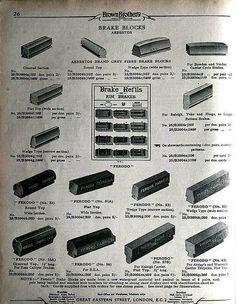 ASBESTOS brake blocks