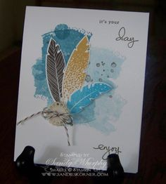 four feathers stampin up - Google Search