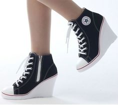 0b7a8547e16649 Wedges Trainers Heels Sneakers Platform High Top Ups Zip Boots Converse