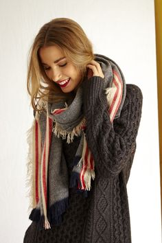 love this sweater and scarf!! It's so cold outside and I like to get lost in big sweaters that can be their own blankets lol :)