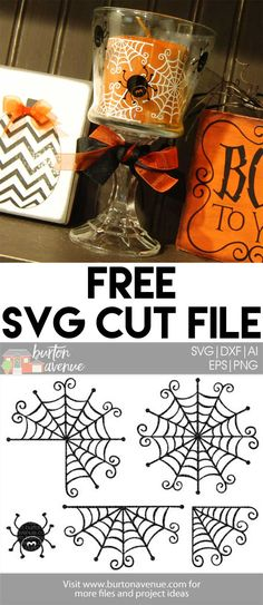 Free SVG files for Cricut & Silhouette Plotter Silhouette Cameo, Silhouette Cameo Projects, Free Silhouette, Silhouette Machine, Vinyl Crafts, Vinyl Projects, Paper Crafts, Halloween Candles, Cute Halloween
