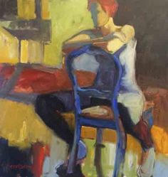 Melinda L. Cootsona - Melinda Cootsona Improv an abstract figurative oil painting at Seager Gray Gallery in Mill Valley Ca in the San Francisco Bay Area.