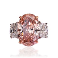 Lugano Diamonds Fancy Pink Diamond Platinum Ring - not a big fan of colored diamonds, but I'd make an exception for this dazzler! Platinum Diamond Rings, Diamond Jewelry, Oval Diamond, Modern Jewelry, Fine Jewelry, Jewellery, Jewelry Accessories, Jewelry Design, Colored Diamonds