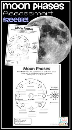 Moon Phases FREE TEACHING RESOURCE - Great to use as an assessment