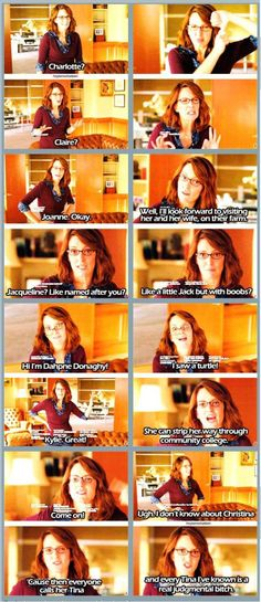 30 Rock Season 5 Episode 6: Gentleman's Intermission. Liz Lemon hates Jack's ideas for baby names.