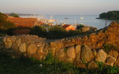 Today we play tourists near Copenhagen on Sjælland, the island we live on .  We take a day tour to Vordingborg on the south central coast.  Here is a view from a stone wall in Vordingborg, Denmark.