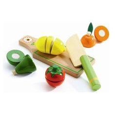 Djeco legemad i træ, frugt og grøntsager til at skære