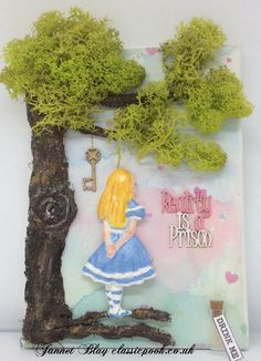 Alice In Wonderland Inspiration Alice Day, Alice In Wonderland Crafts, World Crafts, All Is Well, Craft Box, How To Better Yourself, Needlework, Poems, Card Making