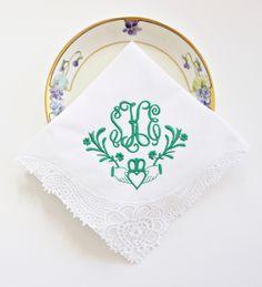 bridal shower gift GOLD KEY MONOGRAM Embroidered Dinner Napkins kitchen towels Linen Towels wedding or hostess gift