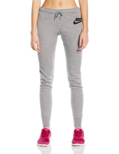 Nike Womens Rally Tight Pants Carbon Heather/Black 545769-091 Size Small